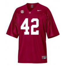 Alabama Crimson Tide #42 Eddie Lacy Red With SEC Patch Replica College Football Jersey