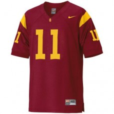 USC Trojans #11 Matt Leinart Red Authentic College Football Jersey