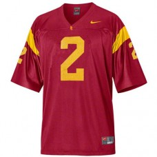 USC Trojans #2 Robert Woods Red Authentic College Football Jersey