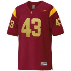 Kid's USC Trojans #43 Troy Polamalu Red Replica College Football Jersey