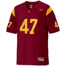 Kid's USC Trojans #47 Clay Matthews Red Replica College Football Jersey