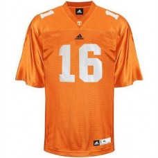 Tennessee Vols #16 Peyton Manning Orange Authentic College Football Jersey