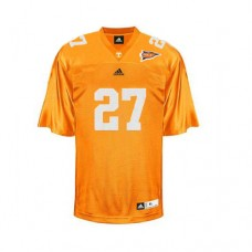Tennessee Vols #27 Arian Foster Orange With SEC Patch Authentic College Football Jersey