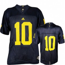 Michigan Wolverines #10 Tom Brady Blue Authentic College Football Jersey