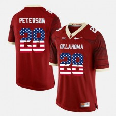 Oklahoma Sooners #28 Adrian Peterson Crimson College Football Jersey