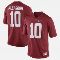 Alabama Crimson Tide #10 A.J. McCarron Crimson College Football GAME Jersey
