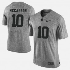 Alabama Crimson Tide #10 A.J. McCarron Gray College Football LIMITED Jersey