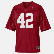 Alabama Crimson Tide #42 Eddie Lacy Red College Football Jersey