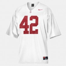 Alabama Crimson Tide #42 Eddie Lacy White College Football Jersey