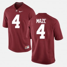 Alabama Crimson Tide #4 Marquis Maze Crimson College Football GAME Jersey