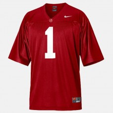 Alabama Crimson Tide #1 Nick Saban Red College Football Jersey