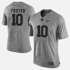 Alabama Crimson Tide #10 Reuben Foster Gray College Football LIMITED Jersey