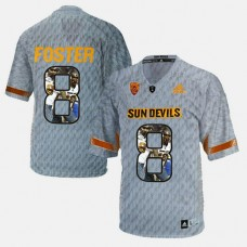 Arizona State Sun Devils #8 D.J. Foster Gray College Football Jersey