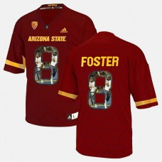 Arizona State Sun Devils #8 D.J. Foster Red College Football Jersey