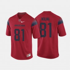 Arizona Wildcats #81 Bryce Wolma Red College Football Jersey