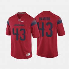 Arizona Wildcats #43 Lucas Havrisik Red College Football Jersey