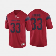 Arizona Wildcats #33 Nathan Tilford Red College Football Jersey