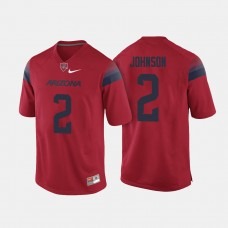 Arizona Wildcats #2 Tyrell Johnson Red College Football Jersey