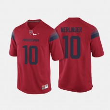 Arizona Wildcats #10 Zach Werlinger Red College Football Jersey