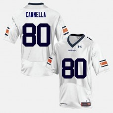 Auburn Tigers #80 Sal Cannella White College Football Jersey