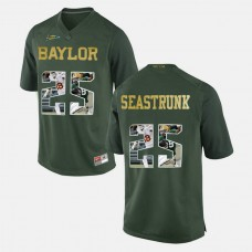 Baylor Bears #25 Lache Seastrunk Green College Football Jersey