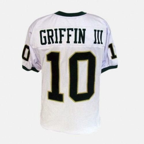 Baylor Bears #10 Robert Griffin III White College Football Jersey