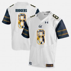 California Golden Bears #8 Aaron Rodgers White College Football Jersey
