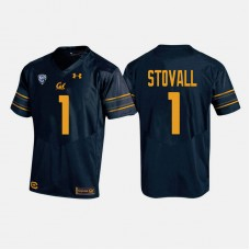 California Golden Bears #1 Melquise Stovall Navy College Football Jersey