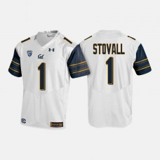 California Golden Bears #1 Melquise Stovall White College Football Jersey