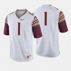 Florida State Seminoles #1 White College Football Jersey