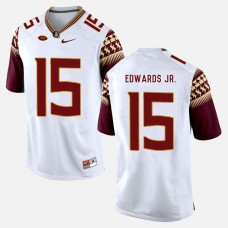 Florida State Seminoles #15 Mario Edwards Jr. White College Football Jersey