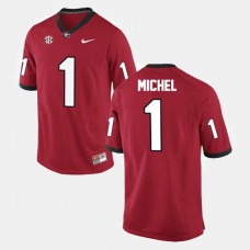 Georgia Bulldogs #1 Sony Michel Red College Football Jersey