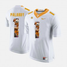 Tennessee Volunteers #1 ichael Palardy White College Football Jersey