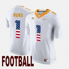 Tennessee Volunteers #1 Jalen Hurd White College Football Jersey