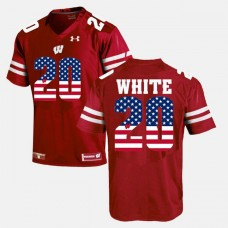 Wisconsin Badgers #20 James White Maroon College Football Jersey