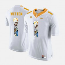 Tennessee Volunteers #1 Jason Witten White College Football Jersey