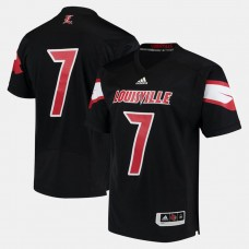 Louisville Cardinals #7 Black College Football Jersey