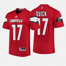 Louisville Cardinals #17 James Quick Red College Football Jersey