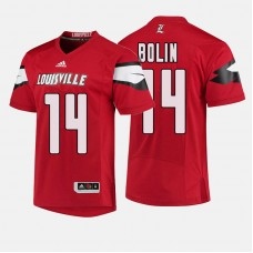 Louisville Cardinals #14 Kyle Bolin Red College Football Jersey