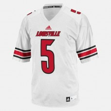 Louisville Cardinals #5 Teddy Bridgewater White College Football Jersey