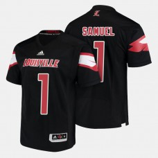 Louisville Cardinals #1 Traveon Samuel Black College Football Jersey
