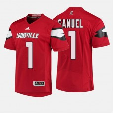 Louisville Cardinals #1 Traveon Samuel Red College Football Jersey