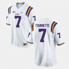 LSU Tigers #7 Leonard Fournette White College Football Jersey