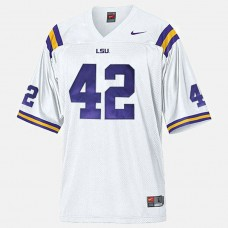 LSU Tigers #42 Michael Ford White College Football Jersey