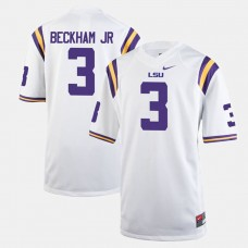 LSU Tigers #3 Odell Beckham Jr White College Football GAME Jersey