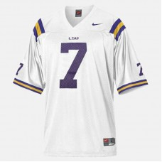 YOUTH - LSU Tigers #7 Patrick Peterson White College Football Jersey