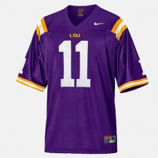 LSU Tigers #11 Spencer Ware Purple College Football Jersey