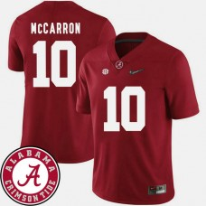 Alabama Crimson Tide #10 AJ McCarron Crimson College Football Jersey