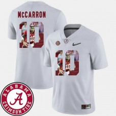Alabama Crimson Tide #10 AJ McCarron White College Football Jersey