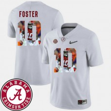 Alabama Crimson Tide #10 Reuben Foster White College Football Jersey